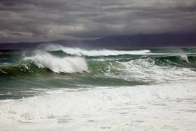 Stormy sea, Walker Bay, Cape Province