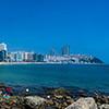 Haeundae Beach, just in back of the Westin Chosun hotel in Busan, S. Korea