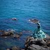 Mermaid statue in back of Westin Chosun hotel in Busan, S. Korea