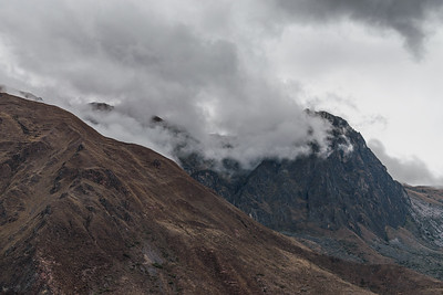 Clouds over mountains