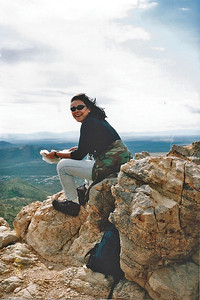 3/14/1998 At the top of Saddleback Butte Trail, Saddleback Butte State Park, Antelope Valley (W. Mojave), Los Angeles County, CA