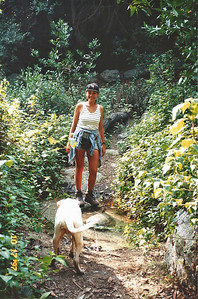 10/18/97 Elaine & Rusty on the Ben Overturff Trail, Monrovia Canyon Park to Sawpit Canyon. San Gabriel Mountains, Los Angeles County, CA