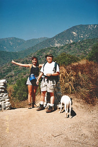 10/18/97 Arleen, Gilbert & Rusty. Ben Overturff Trail, Monrovia Canyon Park to Sawpit Canyon. San Gabriel Mountains, Los Angeles County, CA