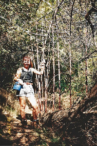 10/18/97 Ar on the Ben Overturff Trail, Monrovia Canyon Park to Sawpit Canyon. San Gabriel Mountains, Los Angeles County, CA