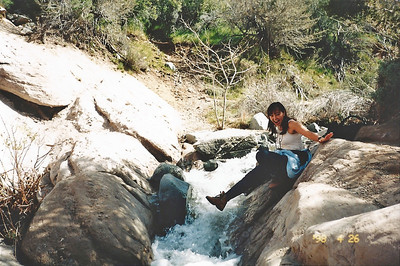 4/26/98 Punchbowl Creek at the bottom of the canyon.