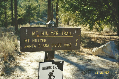 11/22/97 Mt. Hillyer trailhead from Horse Flats.