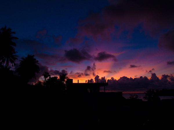 Sunset over Hat Kata, Phuket, Thailand.