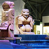 West Coast Native figurines decorate the Vancouver airport