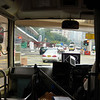 navigating traffic in the K3 shuttle bus
