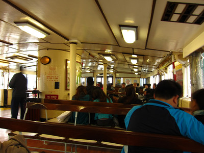 Taking the Harbour Ferry across to Hong Kong island