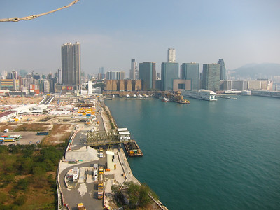 looking east towards downtown Kowloon