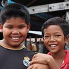 Happy boys at Ropang Ropov fishing village, Cambodia
