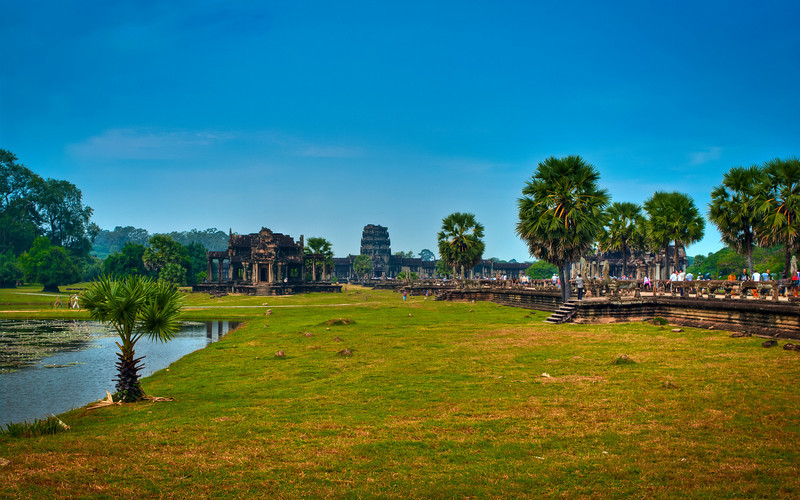 A view from Angkor Wat. Five exposures merged into an HDR image, using Lightroom and Photomatix.