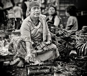 2012-01-17_Bali_DenpensarMkt_YakitoriWoman-2866A-mono