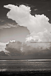 Georgetown Bay Clouds n Boat-mono--5333Web800