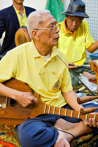 Traditional Musician, Chiang Mai Walking Market