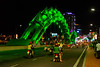 The dragon bridge in Da Nang, Vietnam, with lights that change its color--green. May 2015. [Da Nang 2015-05 039 Vietnam]