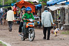 Riding through the marketplace at Banten, West Java, Indonesia, November 2009. [Banten 009 W-Java 2009-11]