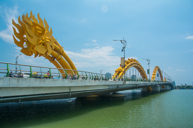 Tail end of the dragon bridge in Da Nang in Central Vietnam, May 2015. [Da Nang 2015-05 003 Vietnam]