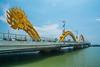 Tail end of the dragon bridge in Da Nang in Central Vietnam, May 2015. [Da Nang 2015-05 003 Vietnam]