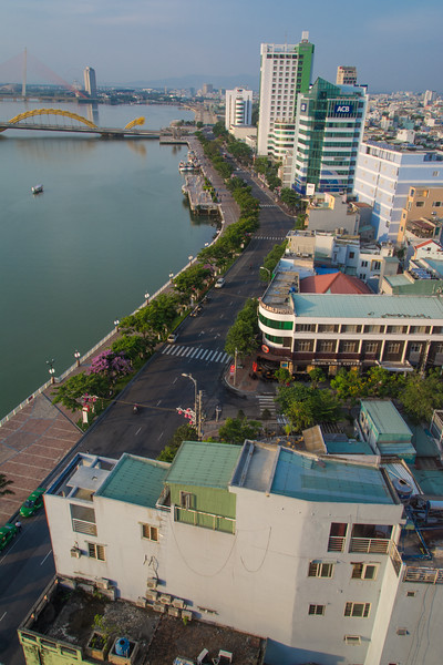 Da Nang in Central Vietnam, May 2015. View from Brilliant Hotel. [Da Nang 2015-05 002 Vietnam]