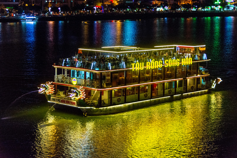Saturday night on the river at Da Nang, Vietnam, May 2015. [Da Nang 2015-05 008 Vietnam]
