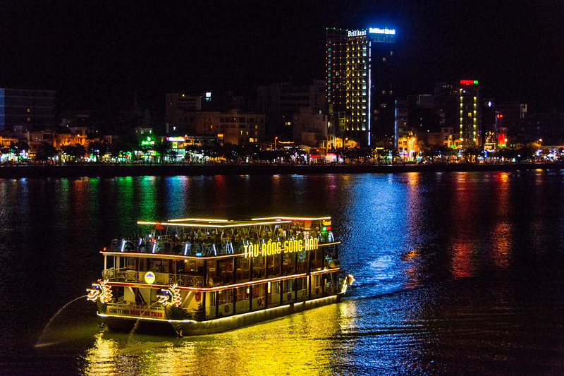 Saturday night on the river at Da Nang, Vietnam, May 2015. [Da Nang 2015-05 006 Vietnam]