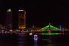 The riverfront and lighted bridges at Da Nang, Vietnam, May 2015. [Da Nang 2015-05 019 Vietnam]