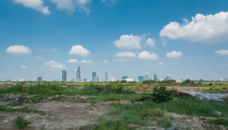 Ho Chi Minh City is built on the Mekong River Delta and urban expansion due to economic boom means what used to be sprawling mangrove wetland is now fast becoming more sprawling city. Vietnam, May 2015. [Ho Chi Minh City 2015-05 026 Vietnam]