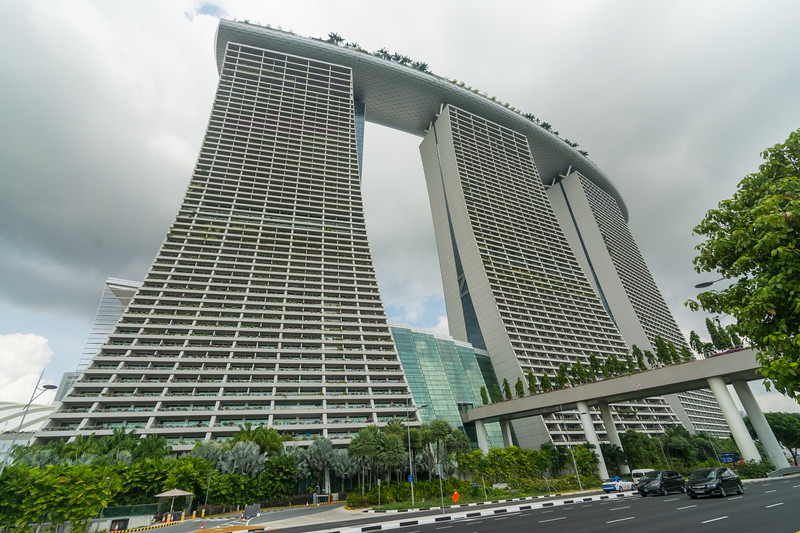 The Marina Bay Sands Hotel near Gardens By The Bay in Singapore, November 2914. [Singapore 2014-11 008]
