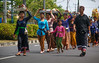 Marching in a ceremony at Nusa Dua, Bali, Indonesia, June 2006. [Bali Nusa Dua 2006-06 001 Indonesia]