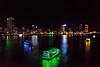 Night lights and boats on the river at Da Nang, Vietnam, May 2015. [Da Nang 2015-05 011 Vietnam]