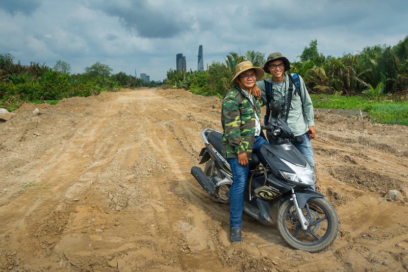Birdwatching friends in a mangrove wetland in the middle of Ho Chi Minh City (Saigon), Vietnam, May 2015. The wetland is being drained and filled for business developments. [Ho Chi Minh City 2015-05 056 Vietnam]