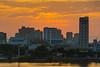 Early morning cityscape sunrise across the river in Da Nang, Vietnam, May 2015. [Da Nang 2015-05 ]