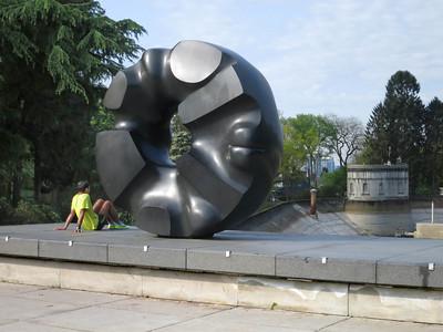 Black Sun, Isamu Noguchi, 1969 (Volunteer Park across from Asian Art Museum).