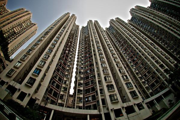Apartment blocks in Tai Koo, Hong Kong.