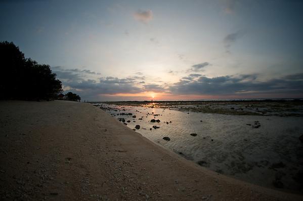 Sunset off of Gili Trawangan, Lombok.