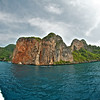 The cliffs of Ko Phi Phi Don (and Phi Phi Lei).