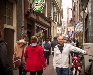 Paul in an Alley in Amsterdam