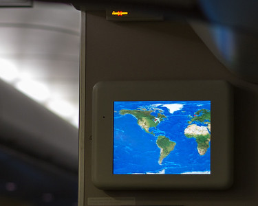 Neat little travel map on the plane. Plots our course and shows our progress.
