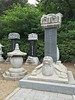 Burial urns and markers from the Joseon Dynasty which ended 1910