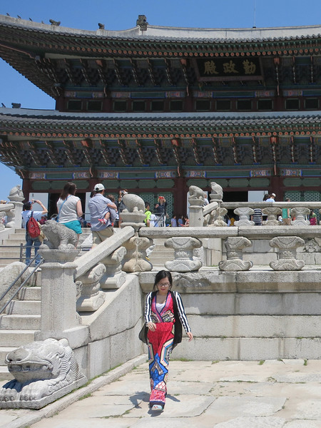 Stairs and balustrade to  Geunjeongjeon, the main throne hall