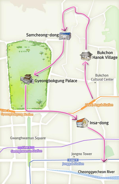 Map of Palace area