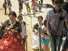 Climbing the stairs to Heungyemun (second) gate