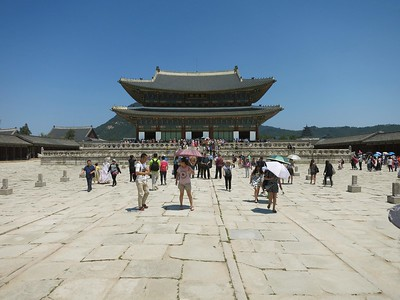 South side of Geunjeongjeon, main throne hall of Gyeongbok Palace