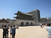 The inside (back) of Gwanghwamun, the main entry gate.