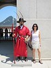 Aliza with guard