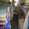 The ladies dorm at the church in Slidell where we stayed