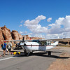 10 people, 2 planes (they were Cessna 207's)