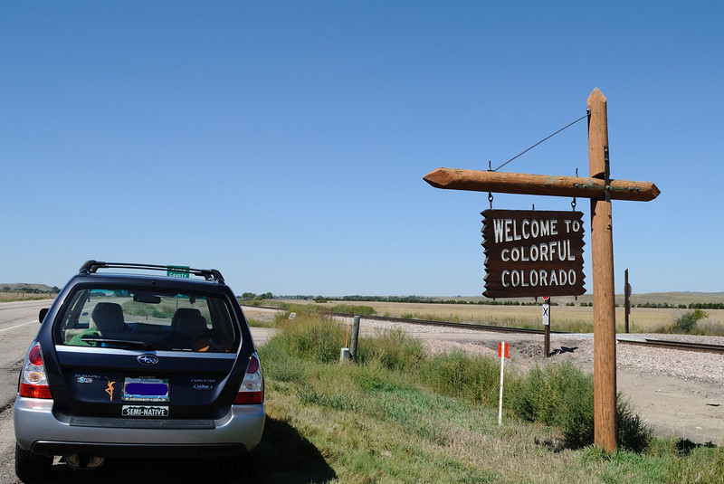 Saturday, 9/10 - After a night in Omaha, I arrive in colorful Colorado via Highway 34.